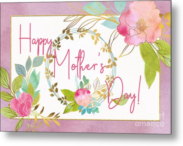 Floral Mother's Day Art Metal Print