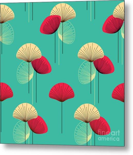 Floral Seamless Vector Pattern Metal Print