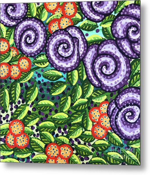 Floral Whimsy 11 Metal Print