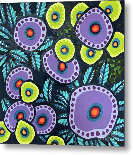 Floral Whimsy 12 Metal Print