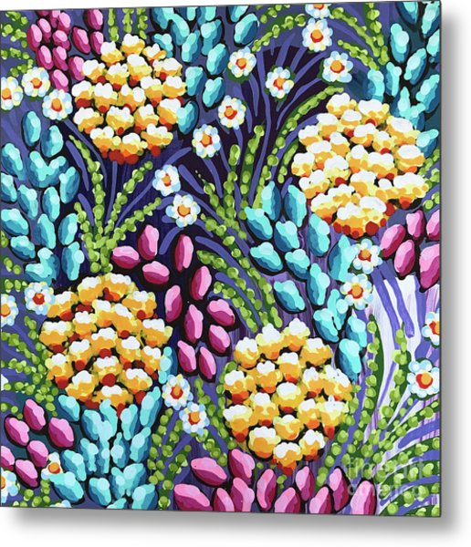Floral Whimsy 2 Metal Print