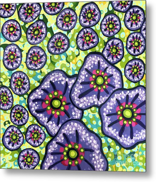 Floral Whimsy 4 Metal Print