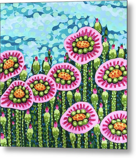 Floral Whimsy 8 Metal Print