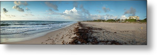 Florida Beach With Gentle Waves And Metal Print
