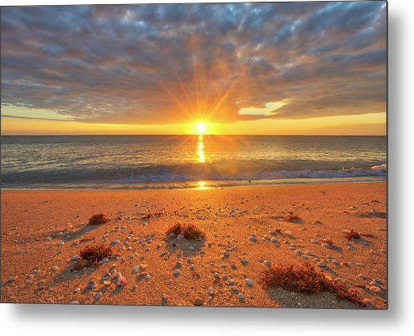 Metal Print featuring the photograph Florida Sunrise At Delray Beach by Juergen Roth