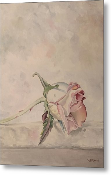 Metal Print featuring the painting Flower by Said Marie