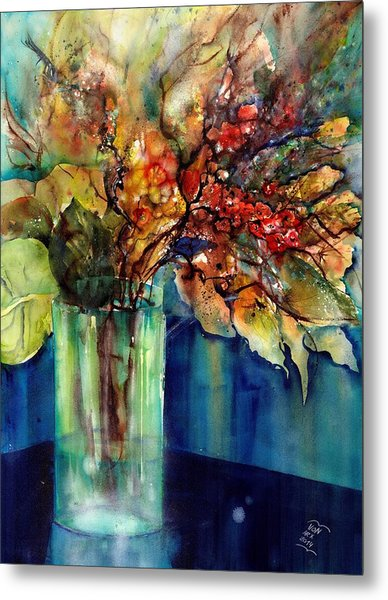 Flowers - Bouquet With Red Berries Metal Print