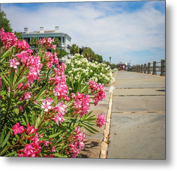 Flowers On The Battery Metal Print