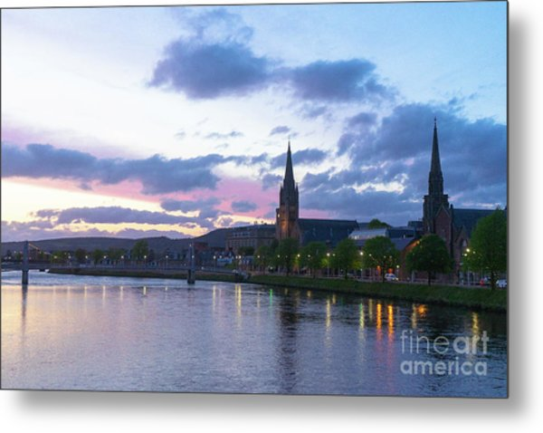 Flowing Down The River Ness Metal Print