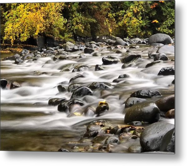 Flowing Molalla Metal Print