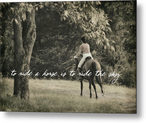 Fly Like Pegasus Quote Metal Print by JAMART Photography