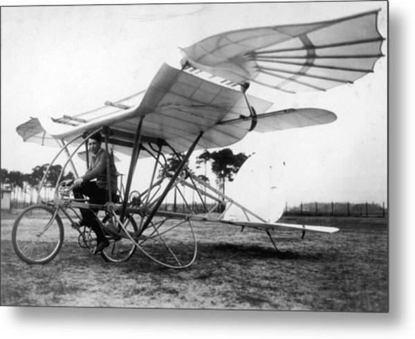 Flying Cycle Metal Print by Hulton Archive