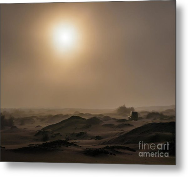 Foggy Morning In The Namib Desert Metal Print