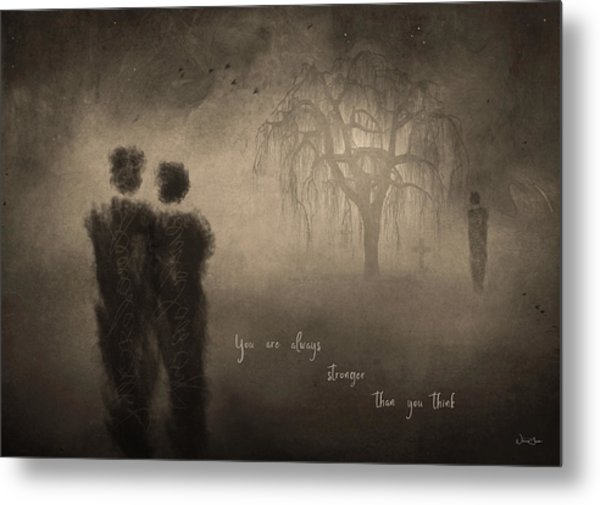 For Those Who Weep Metal Print by Norma Slack
