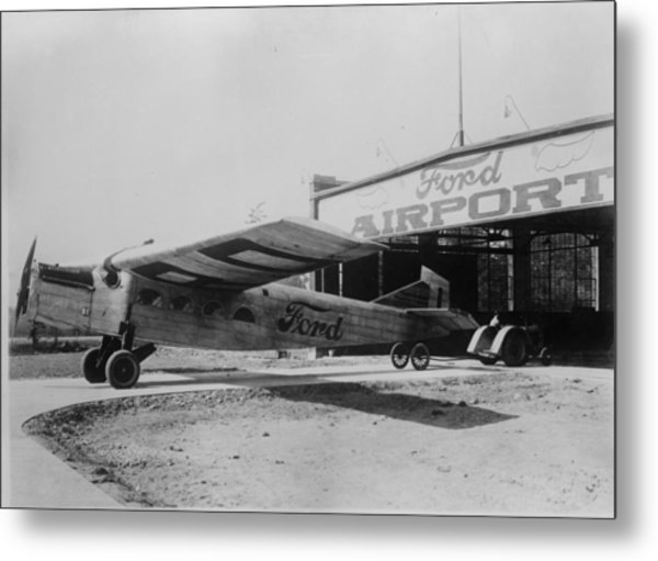 Ford Airport Metal Print by General Photographic Agency
