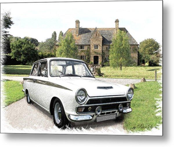 Ford 'lotus' Cortina Metal Print