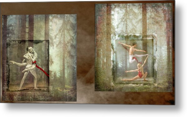 Forest Dancers Metal Print