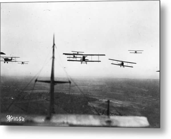 Formation Flying Metal Print by Hulton Archive