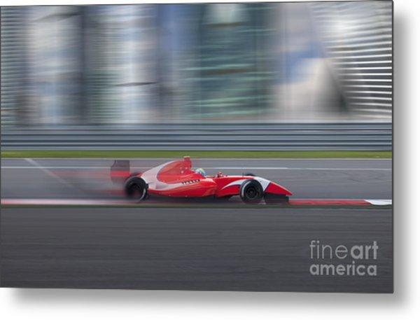 Formula 2.0 Race Car Racing At High Metal Print