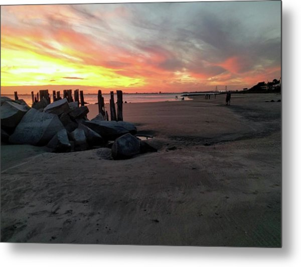 Fort Moultrie Sunset Metal Print