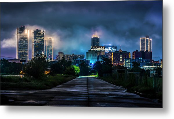 Metal Print featuring the photograph Fort Worth Lights by David Morefield