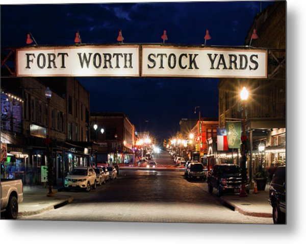 Fort Worth Stock Yards 112318 Metal Print