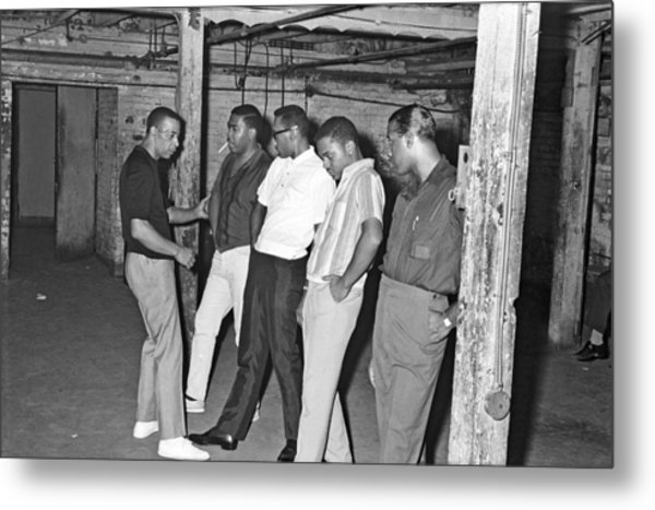 Four Tops Rehearse With Their Metal Print