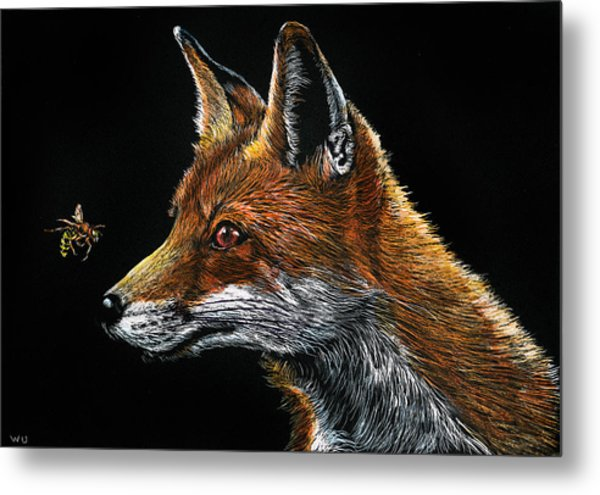 Fox And Hornet Metal Print