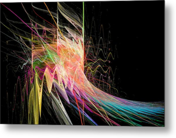 Fractal Beauty Deluxe Colorful Metal Print