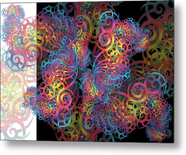 Fractal Illusion Metal Print