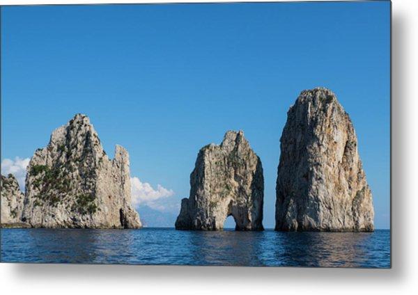 Fragalioni Rocks, Near Punta Tragara Metal Print