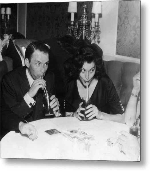 Frank And Ava Metal Print by Hulton Archive