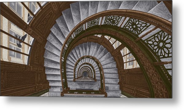 Frank Lloyd Wright - The Rookery Metal Print