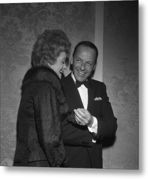 Frank Sinatra And Lucille Ball Metal Print by Michael Ochs Archives