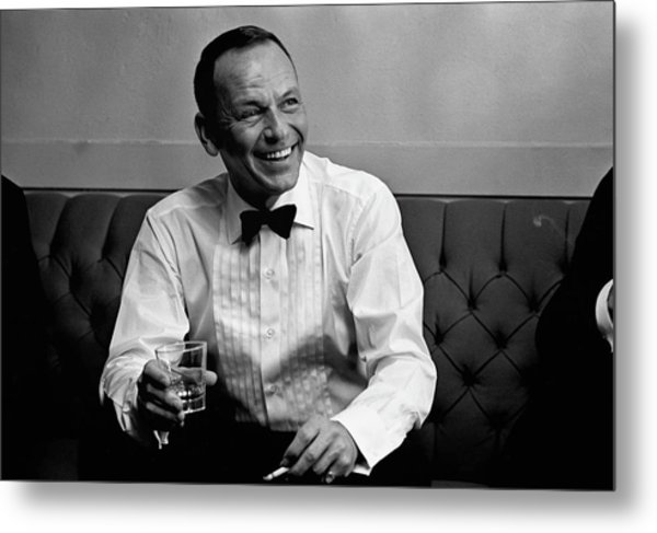 Frank Sinatra Backstage At The Sands Metal Print