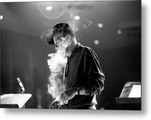 Frank Sinatra During Rehearsals Metal Print