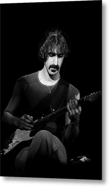 Frank Zappa Performs Live Metal Print