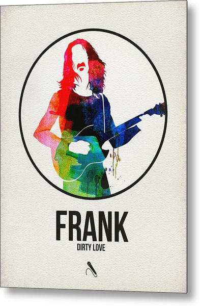 Frank Zappa Watercolor Metal Print