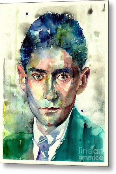 Franz Kafka Portrait Metal Print