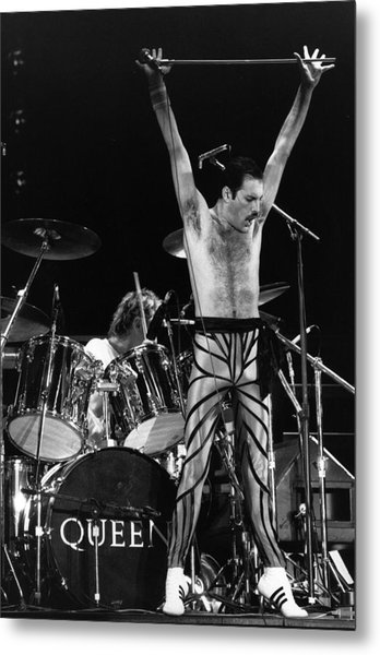 Freddie Mercury Metal Print by Express Newspapers