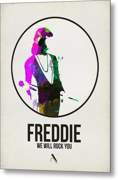 Freddie Mercury II Metal Print