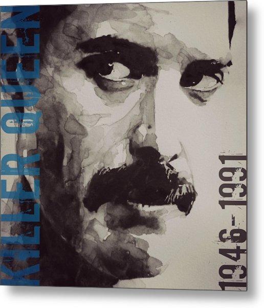 Freddie Mercury - Retro - Tee Shirt  Metal Print