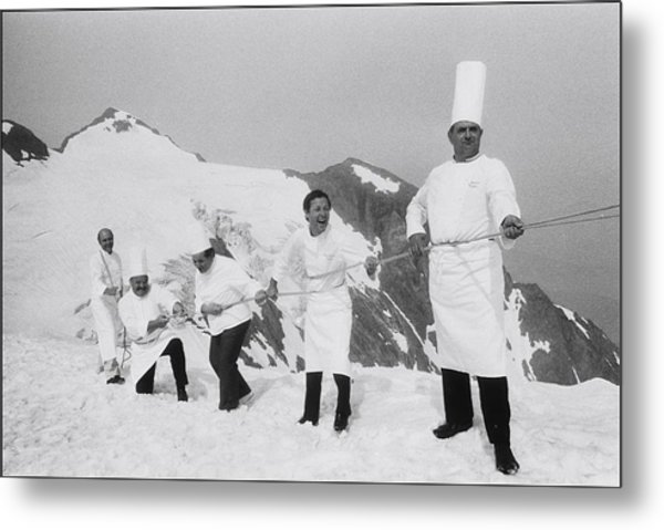 French Chefs At L Alpe D Huez In 1983 Metal Print