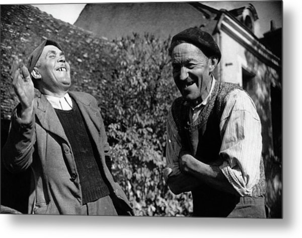 French Villagers Metal Print by Bert Hardy