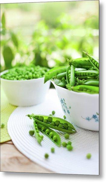 Fresh Garden Peas Metal Print by Jasmina007