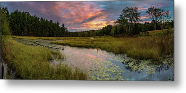 Friendship Panorama  Sunrise Landscape Metal Print