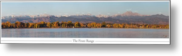 Front Range With Peak Labels Metal Print