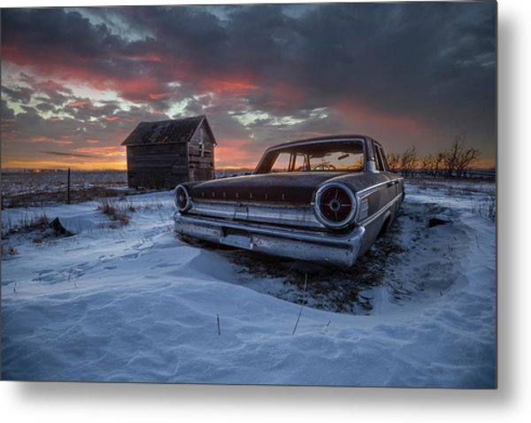 Metal Print featuring the photograph Frozen Galaxie 500  by Aaron J Groen