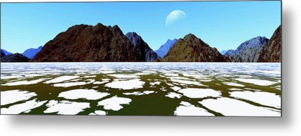 Frozen Panoramic Landscape.digitally Metal Print
