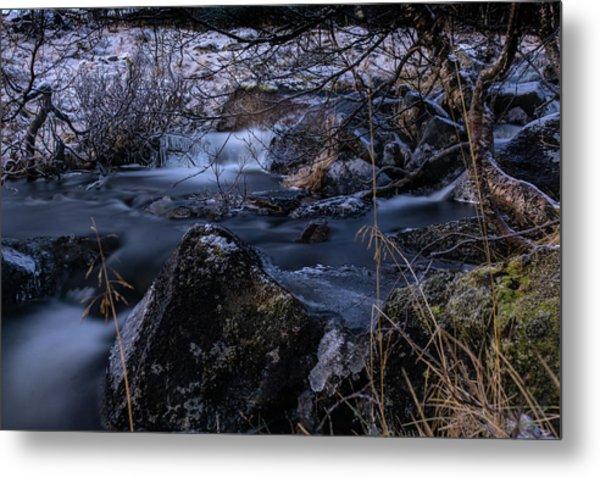 Frozen River II Metal Print